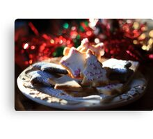 Christmas cookies for Santa Canvas Print