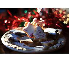 Christmas cookies for Santa Photographic Print