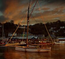 Christmas At Looe #2 by Nigel Hatton, Derwent Digital Imaging
