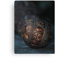Intritcate Design Gold Sphere Canvas Print