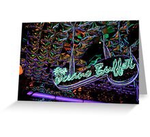 neon buffet Greeting Card