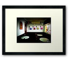Spanish cafe -Ronda Spain  Framed Print