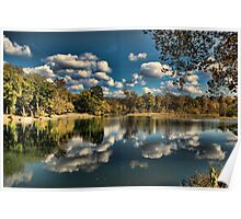 Spring River Autumn Poster
