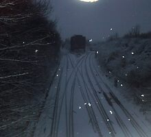 Snow on the tracks by RockandRoll Maker