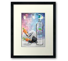 """Melted Snowman"" Martini - North Pole Vodka Framed Print"