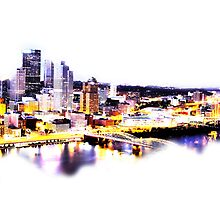 Pittsburgh at Dusk by shutterrudder