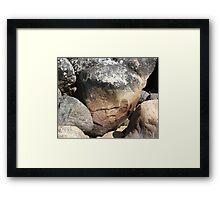 Stone Face Framed Print