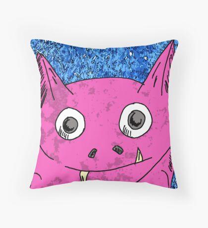 Little Monster Throw Pillow