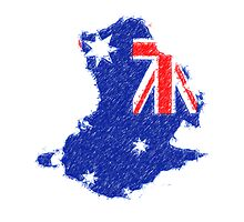 Australian flag for ipad - painting by stereoscopic