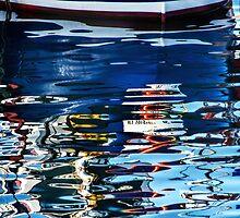 Slippery Dick Reflections 2 ~ Lyme Regis by Susie Peek