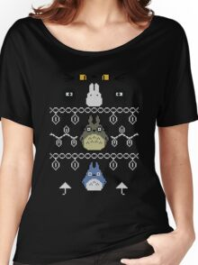 Totoro Christmas 1 Women's Relaxed Fit T-Shirt