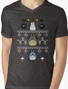 Totoro Christmas 1 Mens V-Neck T-Shirt