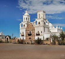 Mission San Xavier del Bac by Gordon  Beck