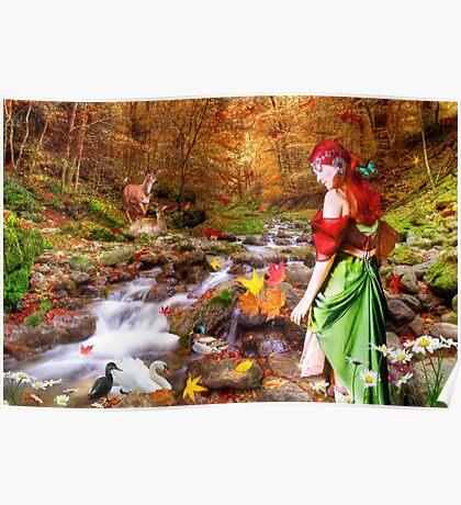 Autumn Walks the Woods Poster