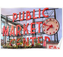 Rise and Shine at Pike Place Market Poster