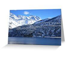Swiss Mountain Grandeur, St. Moritz, Switzerland Greeting Card