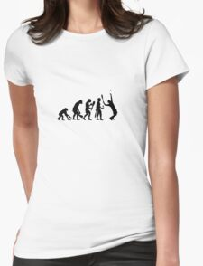 evolution tennis Womens Fitted T-Shirt