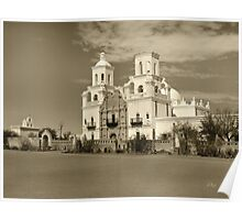 Mission San Xavier del Bac in sepia Poster