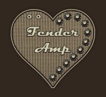 Fender Amp  Heart  decoration Clothing & Stickers by goodmusic