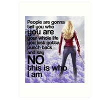 Emma Quote poster Art Print