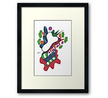 Death's Colorful Abstract Flower Framed Print