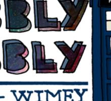 Timey-Wimey Sticker
