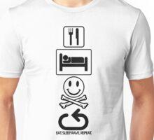 Eat. Sleep. Rave. Repeat. - Symbols Unisex T-Shirt