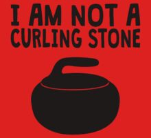 I Am Not A Curling Stone One Piece - Short Sleeve