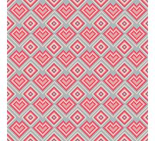 Pixel art abstract pink hearts Photographic Print