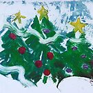 Happy Christmas Trees by Claudia Smaletz