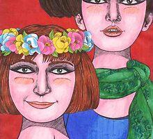Daisy Girls by Cloverswine