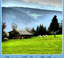 Psalm 23 The Lord is my Shepherd ~ He maketh me lie down in green pastures by ©The Creative  Minds