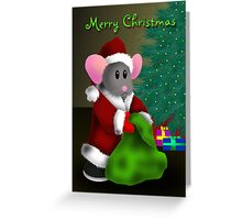 Merry Christmas Mouse Greeting Card