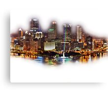Pittsburgh, PA on Laser Night at the Point Canvas Print