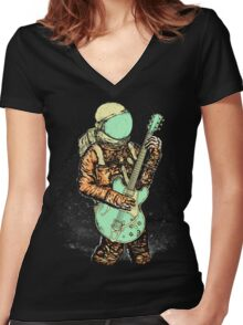 alone in my space Women's Fitted V-Neck T-Shirt