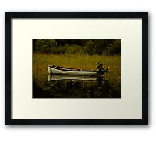 Boat Reflection Framed Print