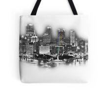 Pittsburgh, PA Silvery Sketch Tote Bag