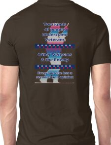 Two types of people understand Veterans... Unisex T-Shirt