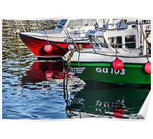 Fishing Boats At The Harbour Poster