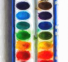 Watercolor set for iphone - drawing by stereoscopic