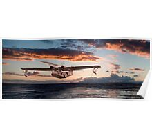 Catalina PBY  - Westering Home Poster