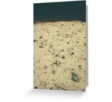autumn beach Greeting Card