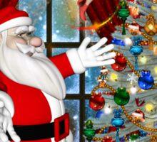 Santa`s Christmas Tree Sticker