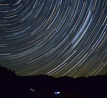 StarTrail Over the Julian Alps by SpaceShipFun