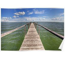 Rockport Images - A Look at the Gulf of Mexico from a Fishing Pier Poster