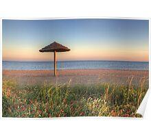 Texas Gulf Coast Images - Rockport Beach Sunset 1 Poster