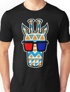 Tribal Print Giraffe w/ 3-D Glasses T-Shirt