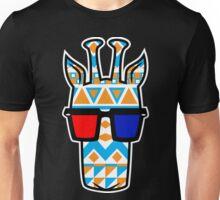 Tribal Print Giraffe w/ 3-D Glasses Unisex T-Shirt