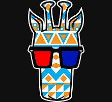 Tribal Print Giraffe w/ 3-D Glasses Unisex T-Shirt