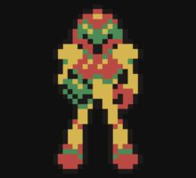 8-bit Samus from Metroid by Andrew Wood